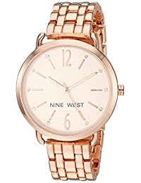 Nine West NW/2150RGRG Reloj de Pulsera Acentuado con Cristales, color Rose Gold
