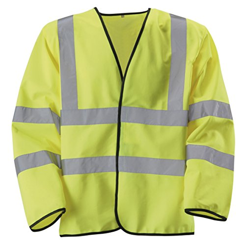 Rodo Medium Hi-Vis Yellow 2 B&B Long Sleeve Waist Coat 8010004