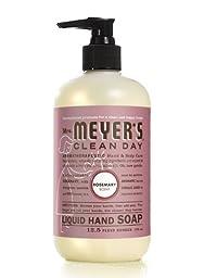 Mrs. Meyers Liquid Hand Soap - Rosemary - 12.5 oz - Pack of 6