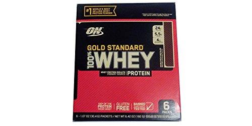 Cheap Gold standard 100% Whey Protein Vanilla 24g Per Pk (6 individuals pkgs)