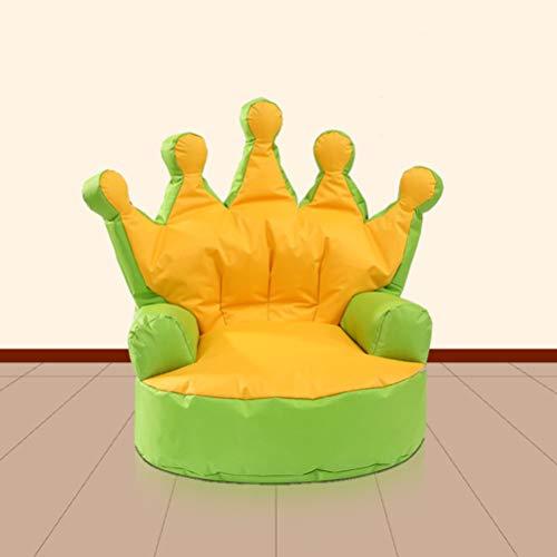Kid Bean Bags Sofa Chair Crown Princess Children Beanbag Armchair Seating Chair Relax Playroom Seater Indoor/Outdoor Garden Furniture,Green from Gokiu