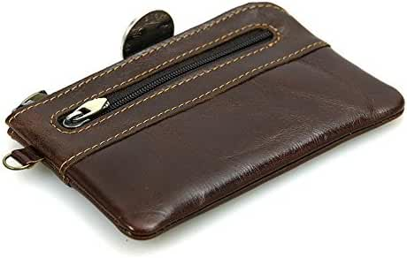 BILLETERA Leather Coin Purse Change Wallet Card Case Small Zip Bag For Men Women