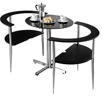 Amazon.de: Elegante platzsparende Esstisch Set - inkl. einem rund ...