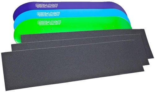 Mini Logo3 Skateboard Decks and 3 Free Sheets Of Griptape Bundle (Assorted, 7.75X31.75-Inch)