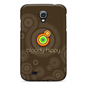 Hot Tpye Bloodyhippy Brown Case Cover For Galaxy S4