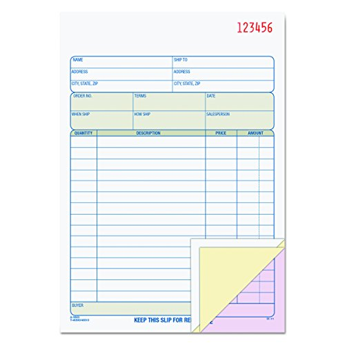 Tops Purchase Order (TOPS Sales Order Book, 3-Part, Carbonless, White/Canary/Pink, 5-9/16 x 7-15/16 Inches, 50 Sets per Book (46510))