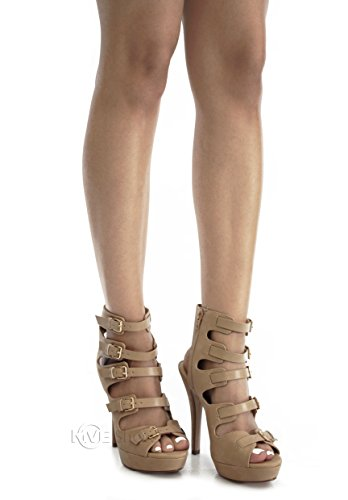 My Delicious Zapatos Delicious Shoppy Patron Para Mujer Plataforma Con Cordones Nat * W