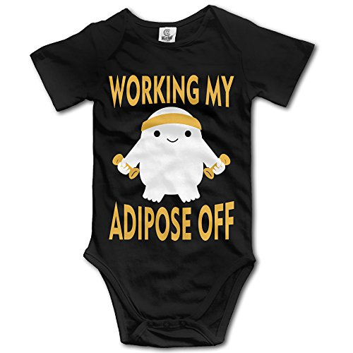 Unisex Working My Adipose Off Special Design Baby Rompers Baby Onesie Short Slev