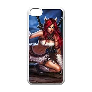 iphone5c Phone case White League of legends-Katarina TRPP4522791