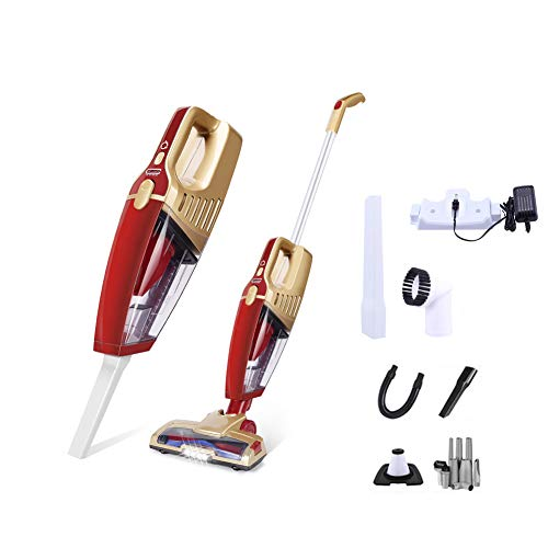 LFEWOX Cordless Handheld,Portable Stick Vacuum 3-in-1 High Power Wet Dry Use with LED Light Lower Noise for Pet Hair/Carpet/Hard Floor/Car ()
