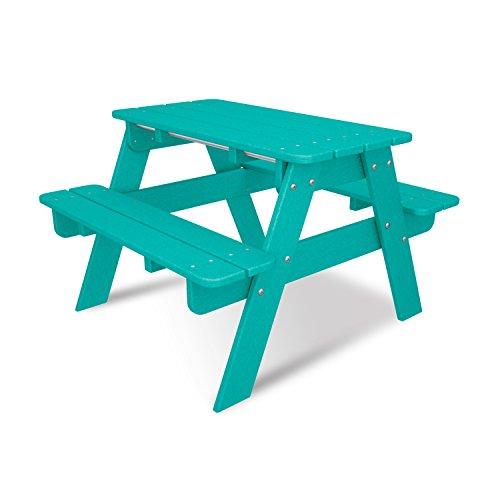 Polywood KT130AR Kids Picnic Table, Aruba