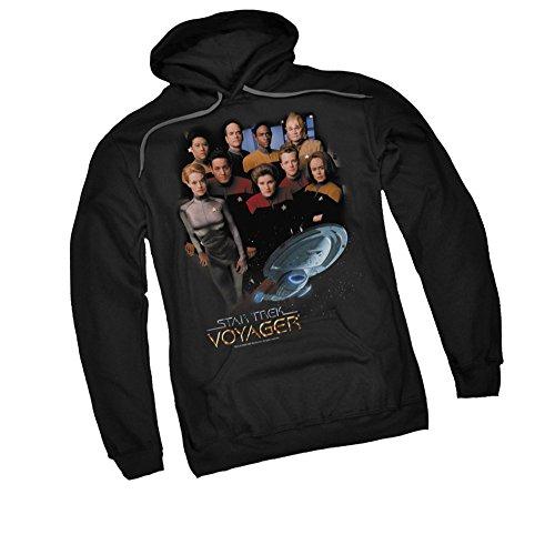 Voyager Crew -- Star Trek Adult Hoodie Fleece Sweatshirt, XX-Large