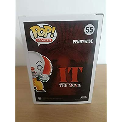 Funko Pop Movies: IT - Classic Black and White Pennywise Collectible Figure, Multicolor: Toys & Games