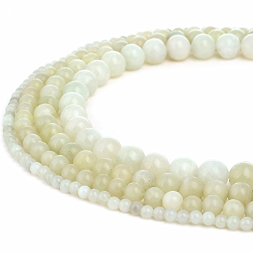 RUBYCA Natural New Jade Serpentine Gemstone Round Loose Beads for DIY Jewelry Making 1 Strand - 8mm ()