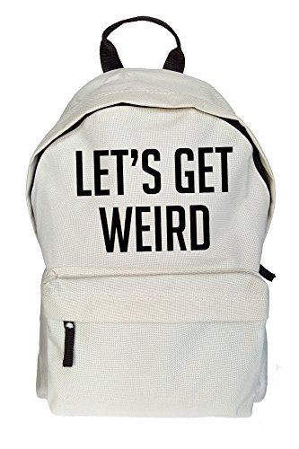 Lets Get Weird Drucken Backpack Rucksack beiläufig Daypack Beige Tasche