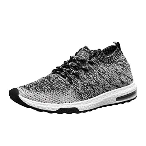 UOKNICE Women Mesh Sports Shoes Breathable Men's Shoes Sport Running Gym Sneaker Lace-up Casual Shoes(Black, CN 39(US 7))