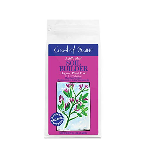 Coast of Maine Alfalfa Meal - Organic Plant Food - Soil conditioner, nitrogen fixing plant food fertilizer