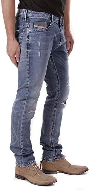 Diesel męskie spodnie jeansowe Thavar - NE Jogg Jeans Mens Sweat Pants R26RL Stretch: Odzież