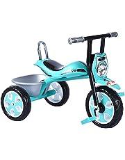 دراجة ثلاثية العجلات للاطفال من بيبي بلس دراجة ثلاثية العجلات ودراجة ثلاثية العجلات للاطفال لركوب الاطفال في الهواء الطلق مع ضوء فلاش LED | مناسبة للبنين والبنات - من عمر 1 إلى 5 سنوات