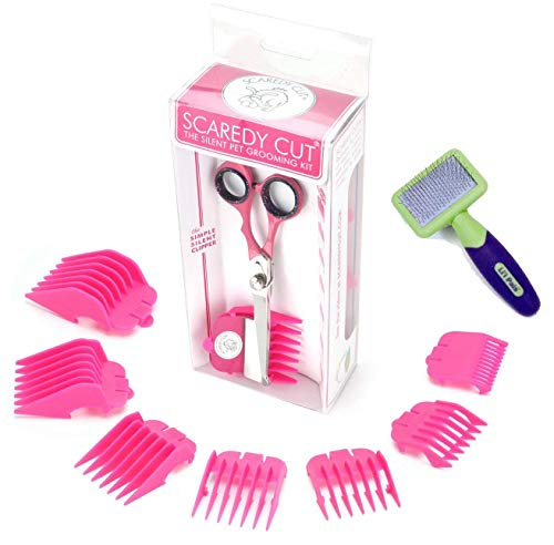 Scaredy Cut Silent Pet Clipper, PINK with Li'l Pals Slicker Brush