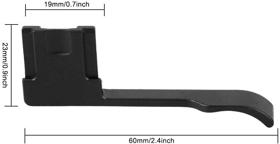 Black Serounder Camera Thumb Hand Grip,Portable Aluminum Alloy Hot Shoe Thumb Up Handbar Grip for Ricoh GR GRII GRIII for Fuji X70 Camera