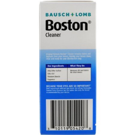 Bausch and Lomb Boston Original Cleaner for Hard Rigid Gas Permeable Contact Lenses, Travel Size 1 oz - Pack of 4 by Bausch & Lomb (Image #4)