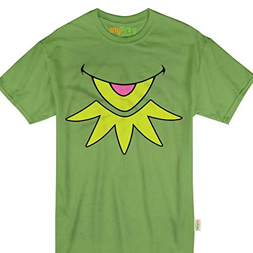 Green Puppet Kermit Halloween Frog Face Costume Kids Adult Tshirt