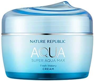 Nature Republic Super Aqua Max Fresh Watery Cream for Oily Skin, 80 Milliliter