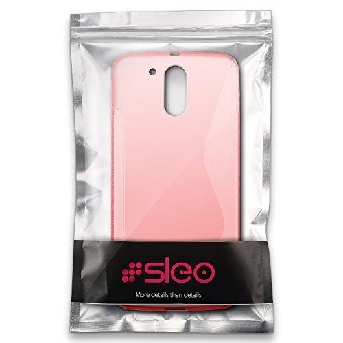 Funda Motorola Moto G4/G4 Plus, SLEO Slim Fit TPU Carcasa de Parachoques Case Traslúcido Suave con Absorción de Impactos y Resistente a los Arañazos para Motorola Moto G4/G4 Plus - Azul Rojo