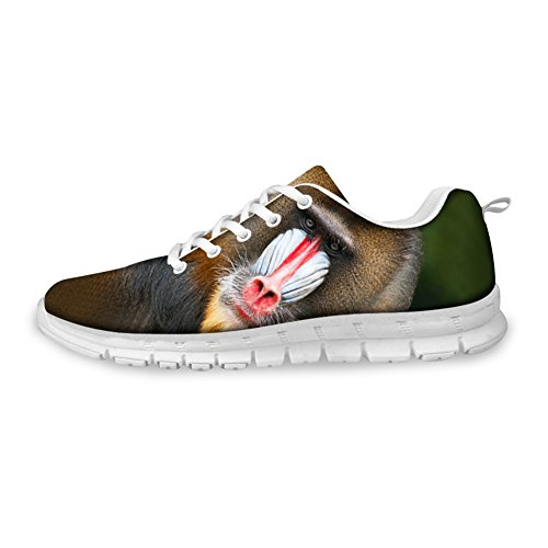 FOR U DESIGNS Fashion Tiger Wolf Animal Style Mens & Womens Lightweight Mesh Running Shoes Ape djbdK