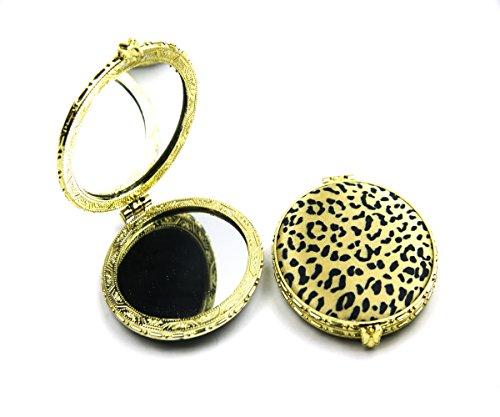 Crispy Portable Double Side Make-up Mirror Leopard Pattern Design (MR2)