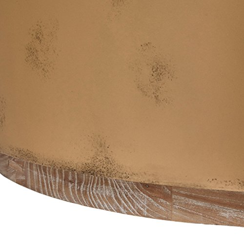 Stone & Beam Hillside Antiqued Coffee Table, 39.4'' D, Wood and Bronze by Stone & Beam (Image #4)