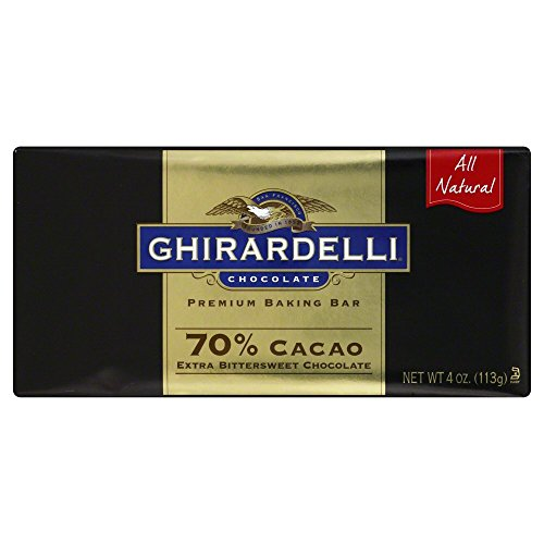 Ghirardelli 70 Percent Cacao Extra Bittersweet Baking Bar, 4 Ounce -- 12 per (Extra Bitter)