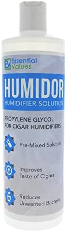 Cigar Humidor Solution, Best 16oz Propylene Glycol Formula for Cigar Humidifiers, Keep Stogies Fresher Than Ever - Comparable to Other Brands by Essential Values