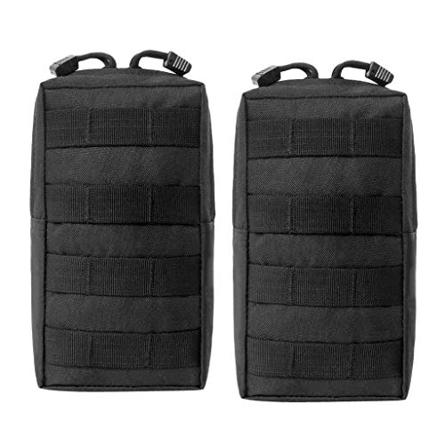 Pouch Belt Molle Military Pocket Bags Phone Waist 2x Camp Black Hiking Eq56tw