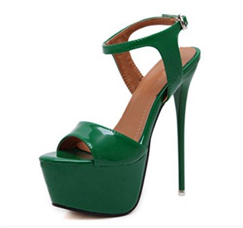 34 Con Scarpe Donna Hollow 39 Green Spillo Sexy Sandali A Alto Nvxie Tacco Outcrop Nightclub Plateau AOxd7w55q
