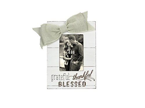 Blessed Frame - Young's Wood Grateful, Thankful, Blessed 4 x 6 Picture Frame, 7.25