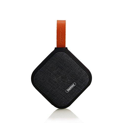REMAX Mini Altavoz Bluetooth 4.1, Material Exterior de la Tela, Excelente Apareiencia y Llevar Conveniente, Soporte Tarjeta...