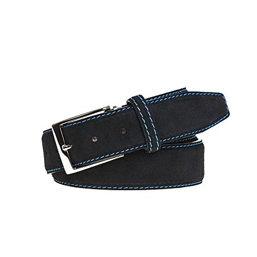 Black Suede Leather Belt by Roger Ximenez: Bespoke Maker of Fine Leather Goods