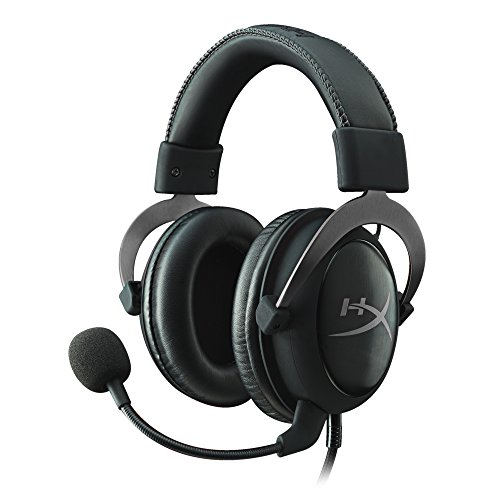 (HyperX Cloud II Gaming Headset - 7.1 Surround Sound - Memory Foam Ear Pads - Durable Aluminum Frame - Works with PC, PS4, PS4 PRO, Xbox One, Xbox One S - Gun Metal (KHX-HSCP-GM) )