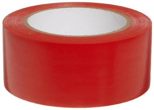 Brady 58201, 108 Length, 2 Width, B-7569 Vinyl Tape, Red Color Aisle Marking Tape