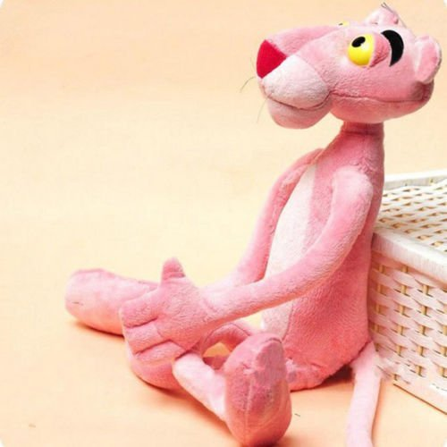 (40 CM Lovely Naughty Pink Panther Stuffed Toy Plush Doll Child Plaything)