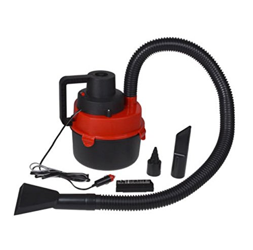 red vacuum cleaner inflator pump portable wet dry mini car robotic 12 v vehicles parts vehicle. Black Bedroom Furniture Sets. Home Design Ideas