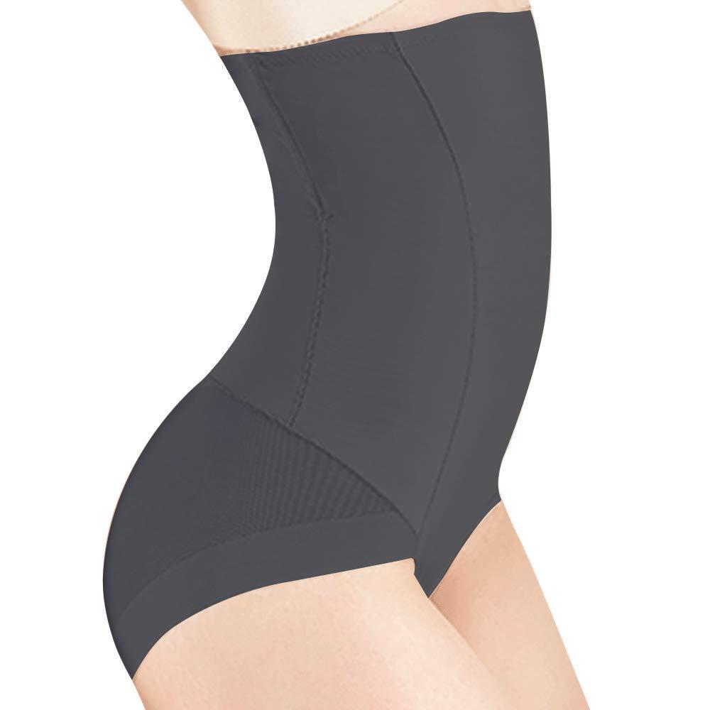 Everbellus Faja Braga Push Up Panty Cintura Alta Abdomen Efecto Vientre Plano para Mujeres