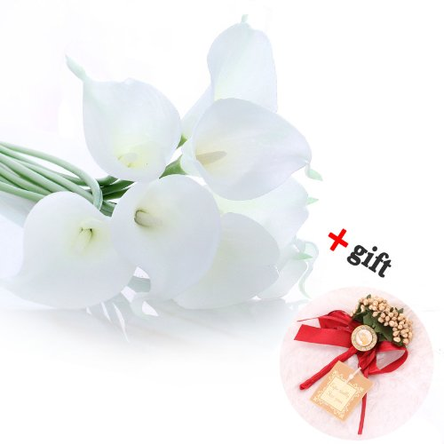 1-x-calla-lily-bridal-wedding-bouquet-10-head-latex-real-touch-flower-bouquets-kc51-white