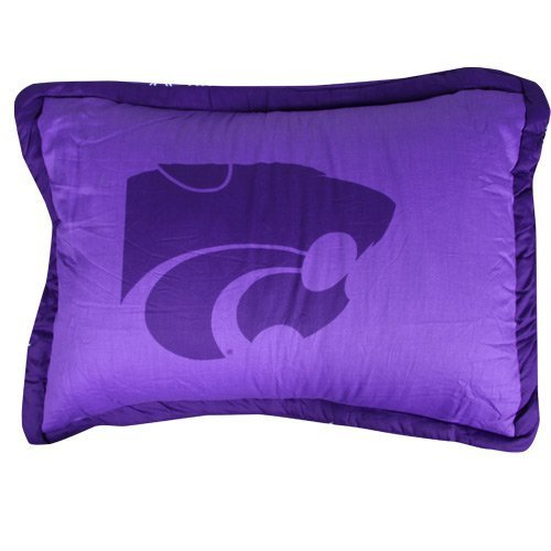 College Covers Kansas State Wildcats Printed Pillow Sham by College Covers