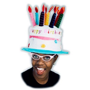 ADULT BIRTHDAY CAKE HAT [Apparel]
