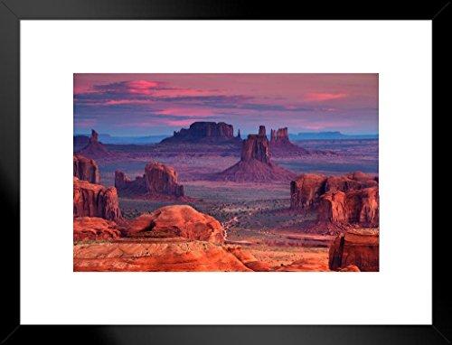 Poster Foundry Hunts Mesa Monument Valley Utah Arizona Photo Art Print Matted Framed Wall Art 26x20 inch