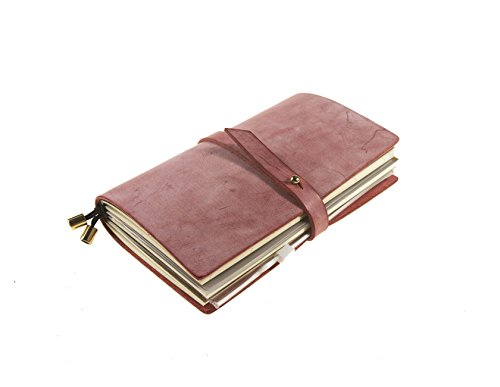 UNIQUE HM&LN Genuine Leather Journal Budget Planner Organizer Academic Refillable Notebook Monthly Calendar & Daily Financial Budgeting Achieve Goals & Improve Productivity Graduation Gifts 2019 Pink