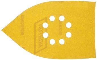 Norton Hook-and-Loop Iron Shaped Sandpaper Sheet for Black & Decker Sandstorm, Mega Mouse, Multi-Sander, Aluminum Oxide